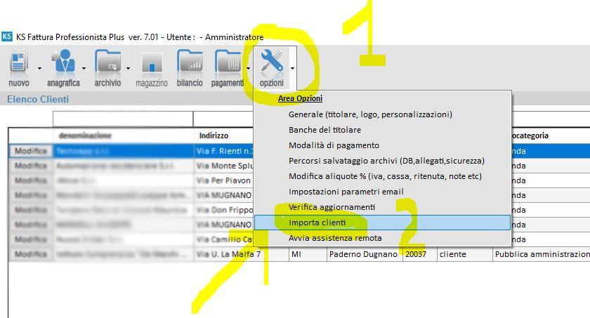 Importazione da file excel dei clienti- servizi e-o prestazioni professionali-prodotti-1