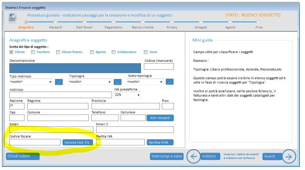 KS Fattura: Software per il calcolo del codice fiscale
