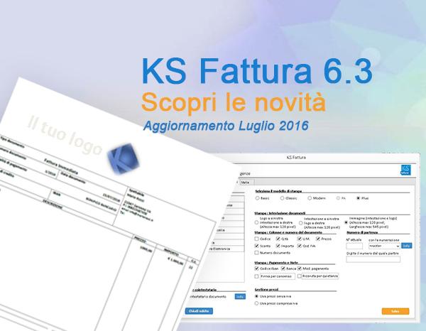 Aggiorna ora il Tuo gestionale. KS Fattura 6.3