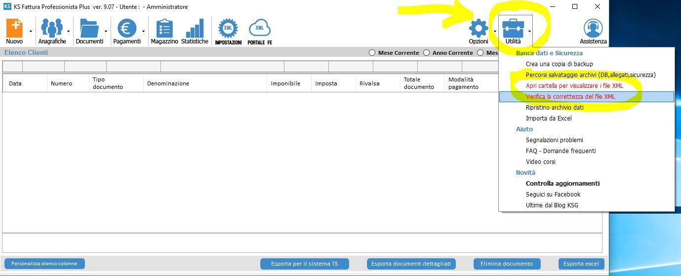 Verifica fattura elettronica XML