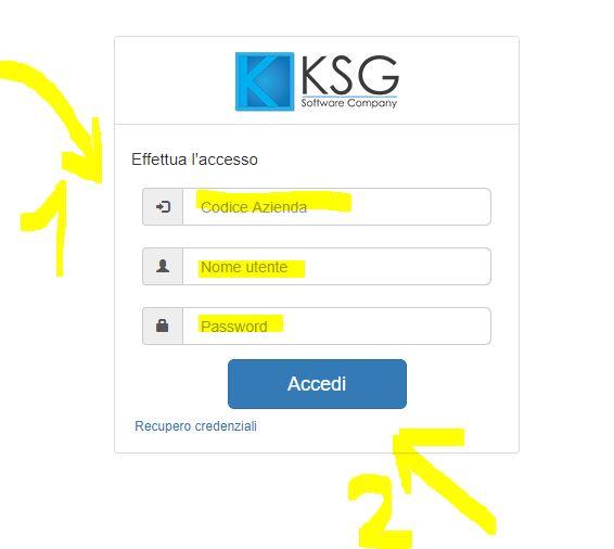 accesso al portale KS fatturazione elettronica